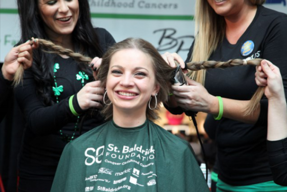 Nurse of the Week: Baylor Nursing Students Shave Heads to Raise Money for Children's Cancer Research